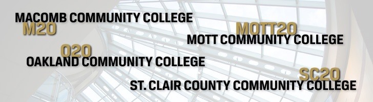 Through Oakland University's Community College Partnership Program, you enjoy the best of OU and the community college. These partnerships allow for joint admission and concurrent enrollment — creating a seamless higher education option. The program includes the following valued partners:   •Macomb Community College (M2O)  •Mott Community College (Mott2O)  •Oakland Community College (O2O)  •St. Clair County Community College (SC2O)   http://www.oakland.edu/ccp#