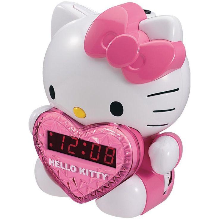 HELLO KITTY KT2064 AM-FM Projection Alarm Clock Radio