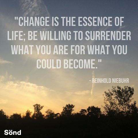 """Change is the essence of life; be willing to surrender what you are for what you could become."" - Reinhold Niebuhr #quote #inspiration #motivation"