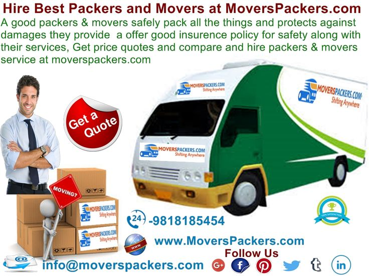 A good packers & movers safely pack all the things and protects against damages they provide  a offer good insurence policy for safety along with their services, Get price quotes and compare and hire packers & movers service at moverspackers.com