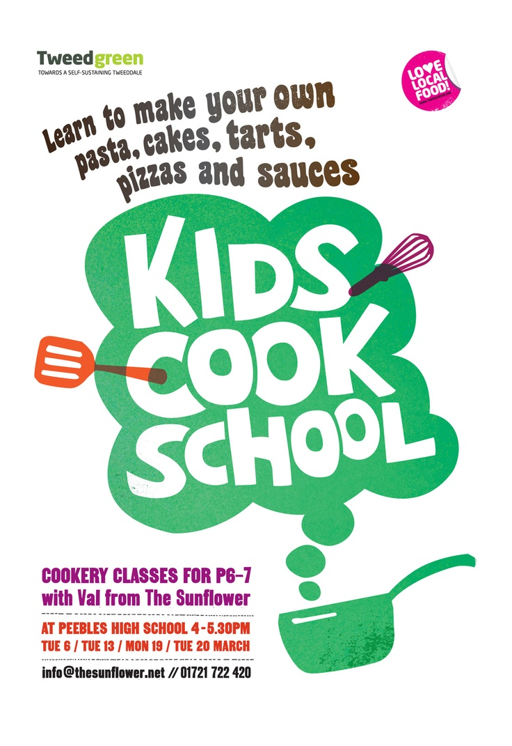 Poster design for class 5 - Illustration And Poster For Cookery Class For Children