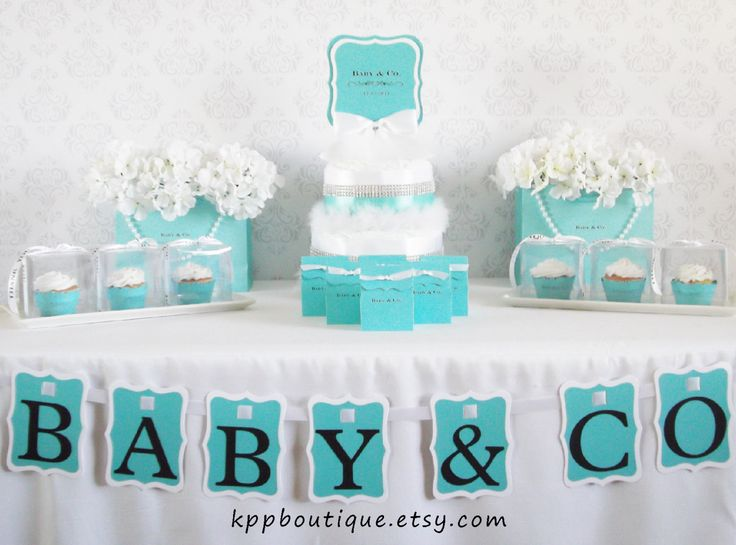 tiffany co inspired baby shower bridal shower sweet sixteen party package for 24