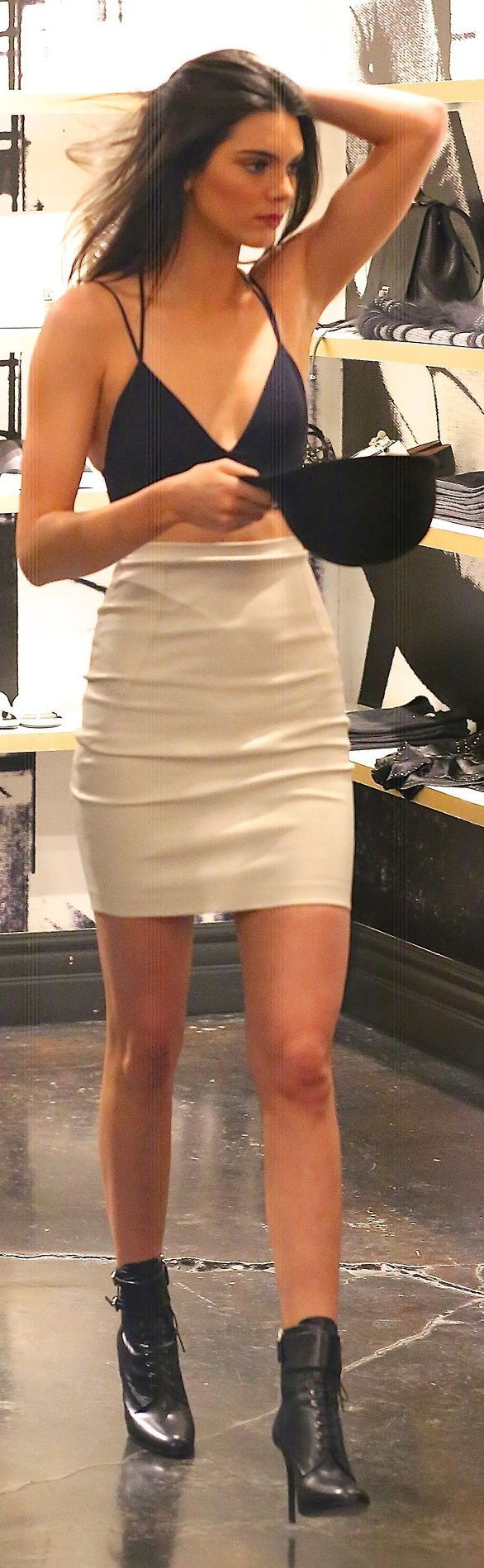 White High Rise Mini Skirt