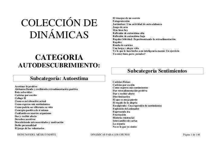 Coleccion De Dinamicas Grupales by Marcia Muñoz Soto via slideshare