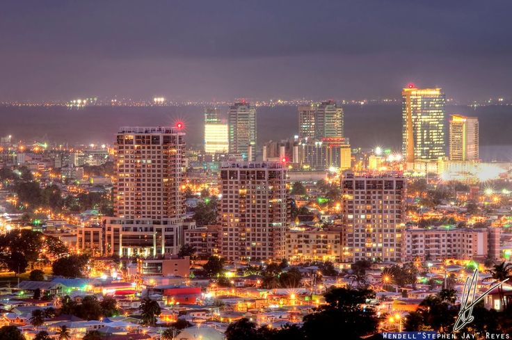 Skyline of Port of Spain at Night