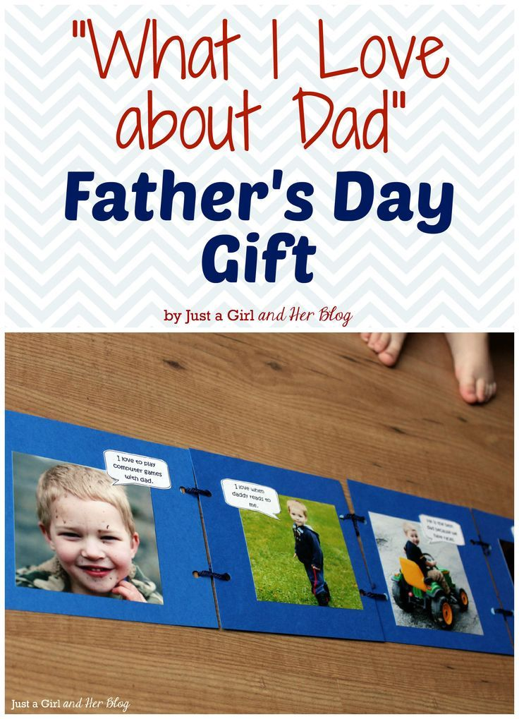 CUTE What I Love about Dad Fathers Day gift that you and your kids can make together! #fathersdaygift #fathersday