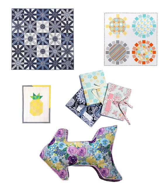 ** Free Patterns from Dear Stella ** - including Snapdragon Studios' notebook covers and Follow Me pillow!