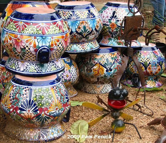 Mexican+Pottery+Planters | Colorful Mexican Pots Brightened Up Even The  Cold, Gray