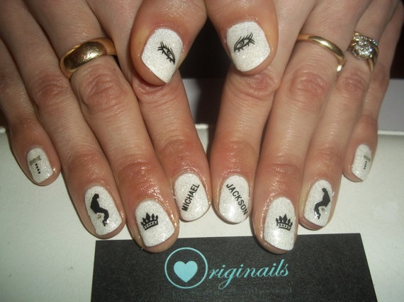 33 best michael jackson nails design images on pinterest michael michael jackson nail stickers by originails on etsy 250 prinsesfo Gallery