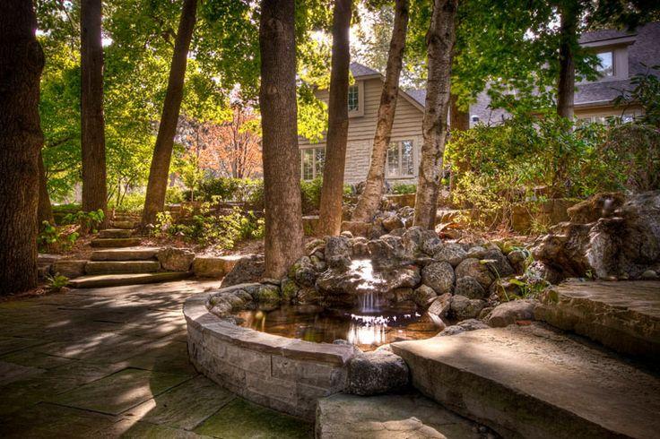 Secret garden, water feature, front landscape