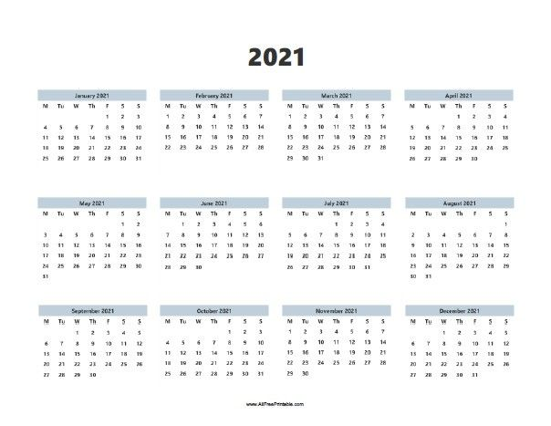 Simple Calendar 2021 Images