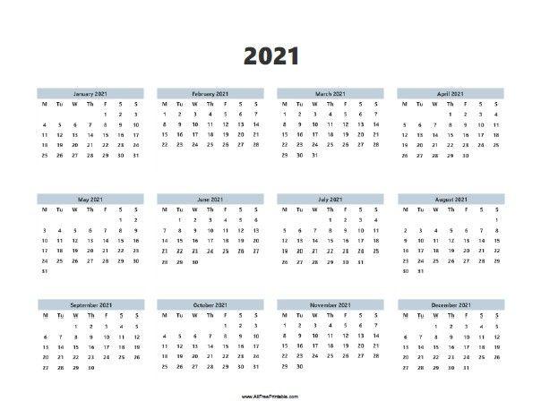 Photos of Calendar 2021 Printable Word