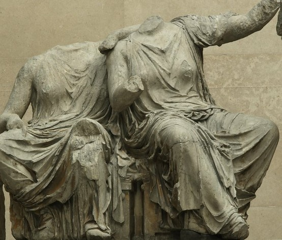 Demeter and Persefone from the east pediment of the Parthenon. British Museum.
