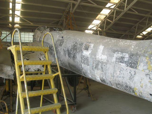 WW2 German Stuka Ju87 aircraft shot down in 1943 recovered in Leros