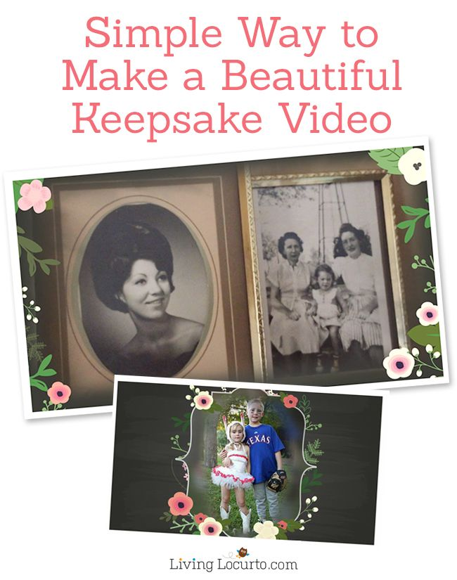Mother's Day Keepsake Gift Idea. Tips for how to make a beautiful video with photos and video. It's simple and easy with Animoto. ~ LivingLocurto.com #animotokeepsake spon