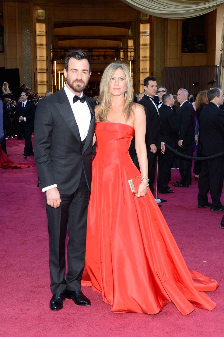 Todas las imágenes de celebrities y alfombra roja de los Oscars 2013: Jennifer Anisto y Justin Theroux
