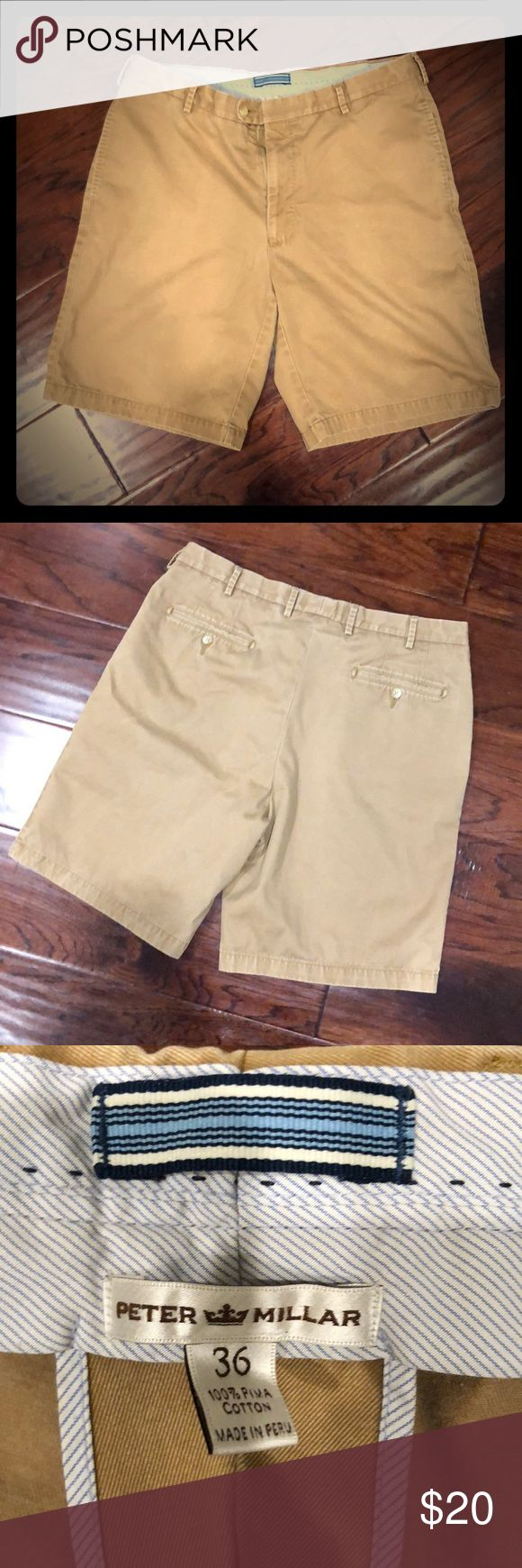 Peter Millar Shorts 100% Pima Cotton Shorts - color a dark tan rust color. 2nd picture isn't great of color. See other three.  Tag: Khaki Shorts Peter Millar Shorts Flat Front