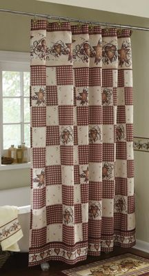 Primitive Hearts and Stars Country Shower Curtain. this is our shower curtain!!!