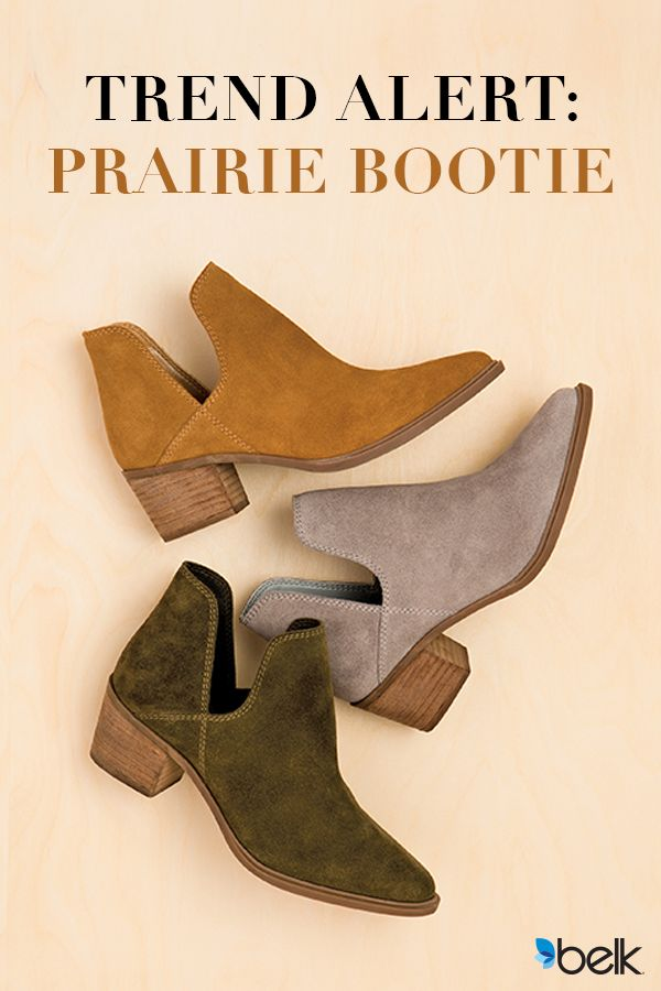Featuring a Western-inspired vibe and chic, flattering silhouette, this short bootie is perfect for your wardrobe. It's easy to wear and pair with your favorite outfits for year-round style. Wear with rolled up jeans or your favorite prairie dresses for a casual, fun look. Get the hottest prairie bootie trend at Belk today.