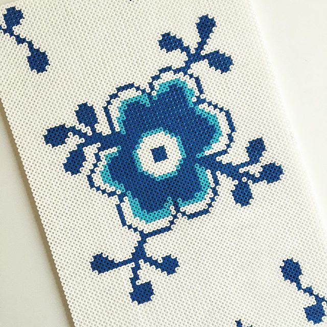 Royal Copenhagen design hama beads by brittaboutrup