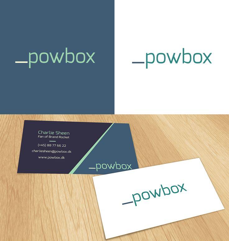 _powbox #logo and #businesscard design | #brandrocket