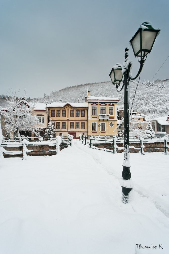Florina coverd in snow