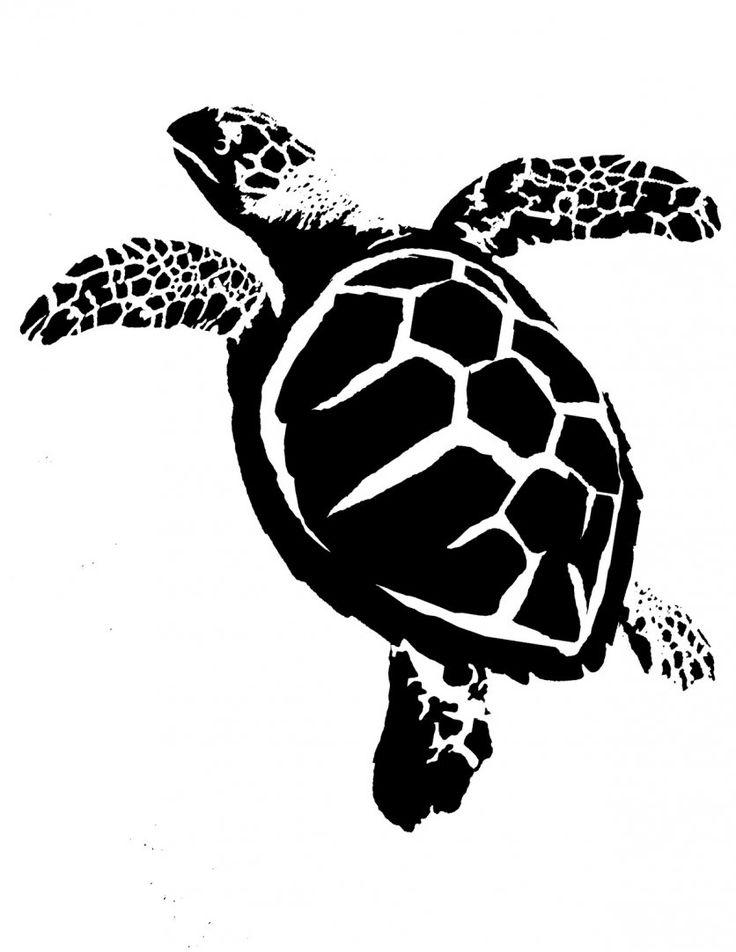 Черно-белая картинка черепаха
