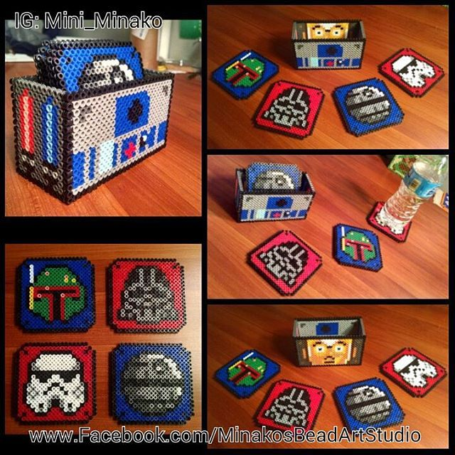Star Wars coaster set perler beads by mini_minako
