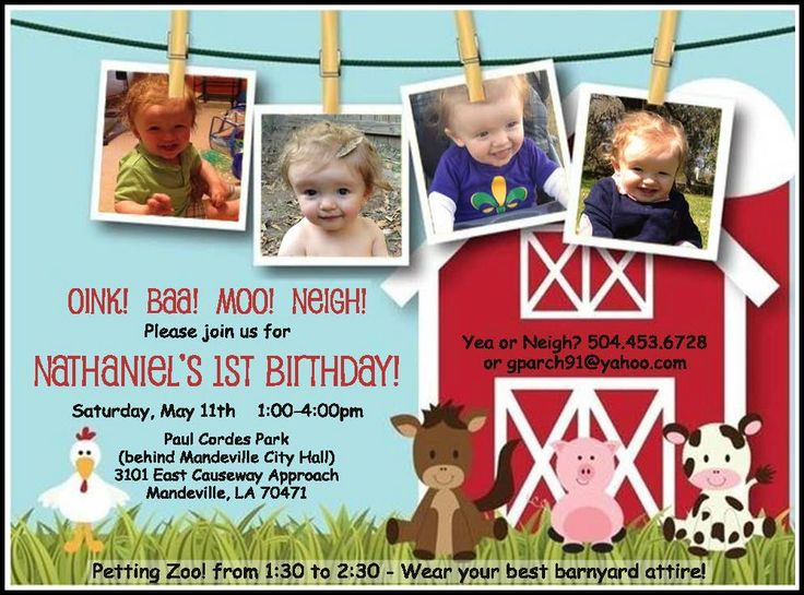 30 best Old McDonalds Farm Birthday Party on the Northshore – Mcdonalds Birthday Party Invitations