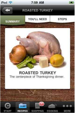 The Chow thanksgiving dinner coach app -- great way to plan and shop for your meal!