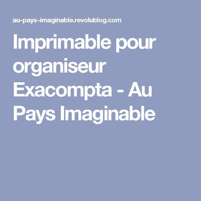 Imprimable pour organiseur Exacompta - Au Pays Imaginable