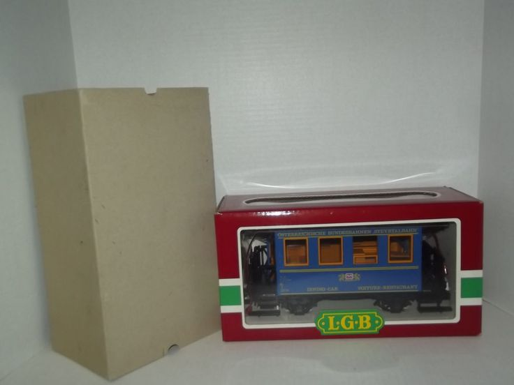 Lehmann Gross Bahn LGB 3013 OBB Speisewagen Dining Car with Original Box #LGB
