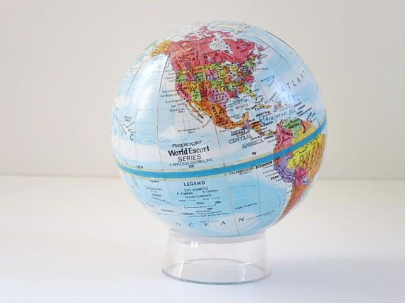Vintage World #Globe #Mini #Replogle Globe Earth Globe, Miniature  #Vintage #Office #Decor #Gifts #ForGuys #swirlingorange11 #swirlingO11