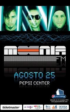 Moenia, Agosto 25, Pepsi Center WTC