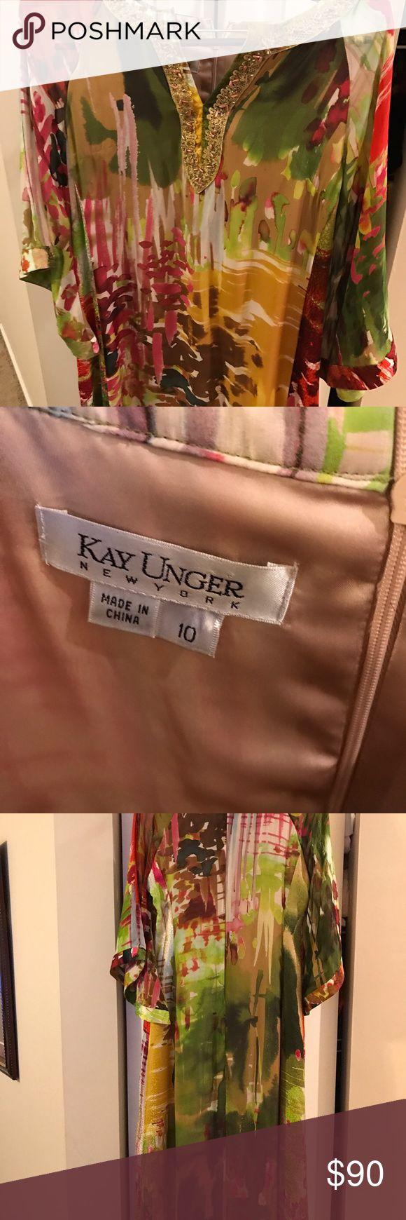Kay Unger beautiful kimono type dress Most beautiful kimono Kay Unger Dress size 10. Just breathtaking. Kay Unger Dresses Maxi