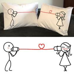 """I bought this for my boyfriend last year. =) """"Say I Love You"""" Couple Pillowcase Set $30.95 #pintowinGifts @Gifts.com"""