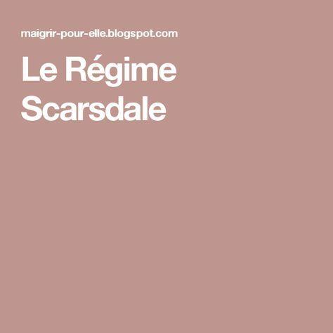 Le Régime Scarsdale