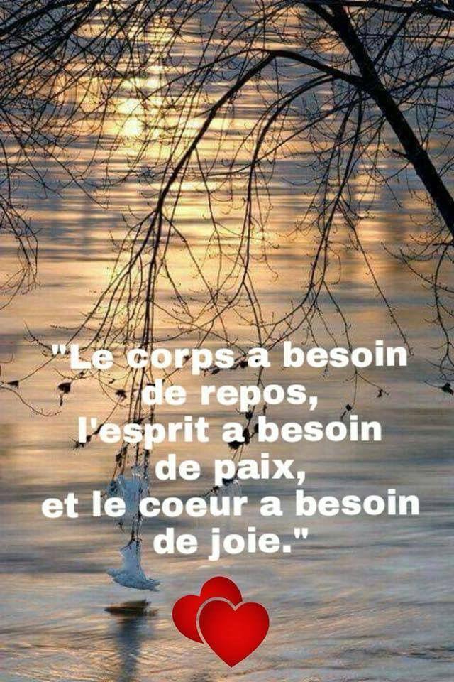 Corps A Besoin De Repos Esprit Paix Coeur Joie Les Beaux