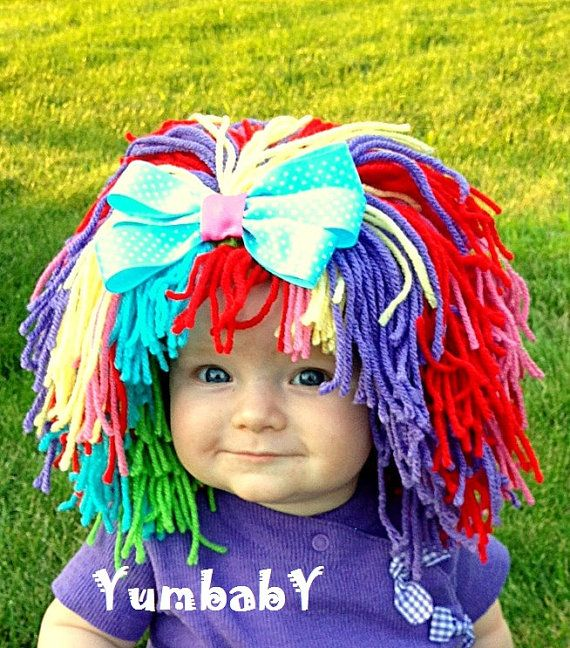Clown Costume Baby Hat Baby Girl Clown Wig Pageant Clothes Colorful Wig Toddler Costume Photo Prop Dress Up Clothes Kids Cap via Etsy