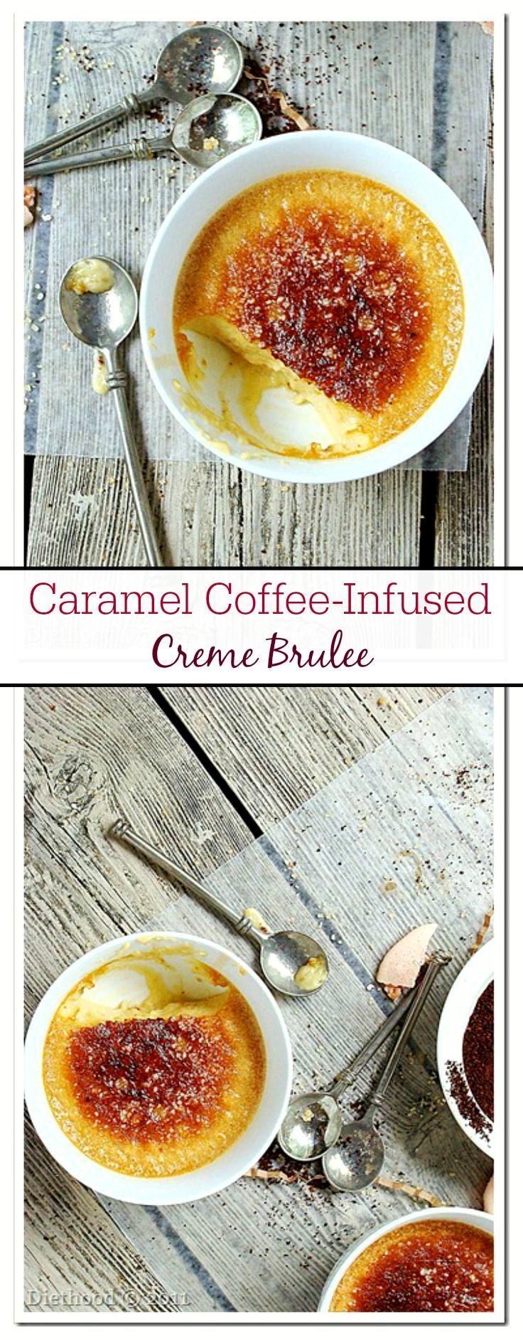 Caramel and Coffee Creme Brulee - This is the best Creme Brulee on Earth! It is one of my most requested desserts, especially around the Holidays!