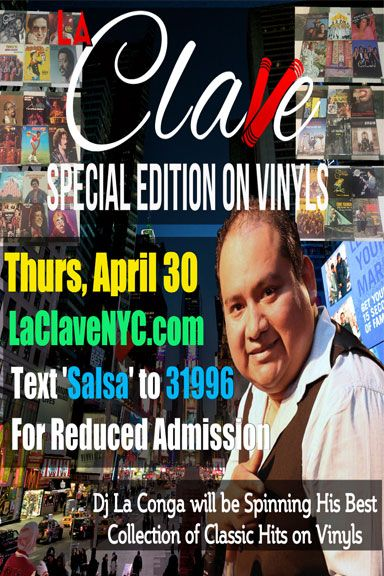 La Clave NYC - Salsa & Bachata Dancing in NYC at Copacabana NYC (Main Floor) save to  date April 30th from 9pm - 2am
