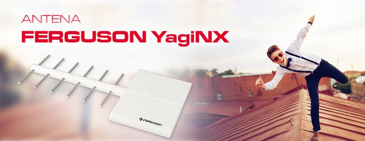 Antena Ferguson YagiNX - nasz nowy produkt! Zoptymalizowana do odbioru wielu sygnałów TV cyfrowych (DVB-T/DVB-T2); Szeroki zakres odbieranych częstotliwości TV UHF; Niski współczynnik szumów http://www.ferguson-digital.eu/pl/telewizja-naziemna/494-ferguson-yaginx.html