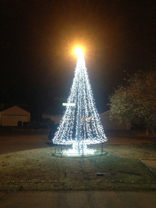 413 best christmas lights images on pinterest christmas lights the 20 foot christmas tree my husband built out of pvc pipe christmas outdoor lightsoutdoor aloadofball Choice Image