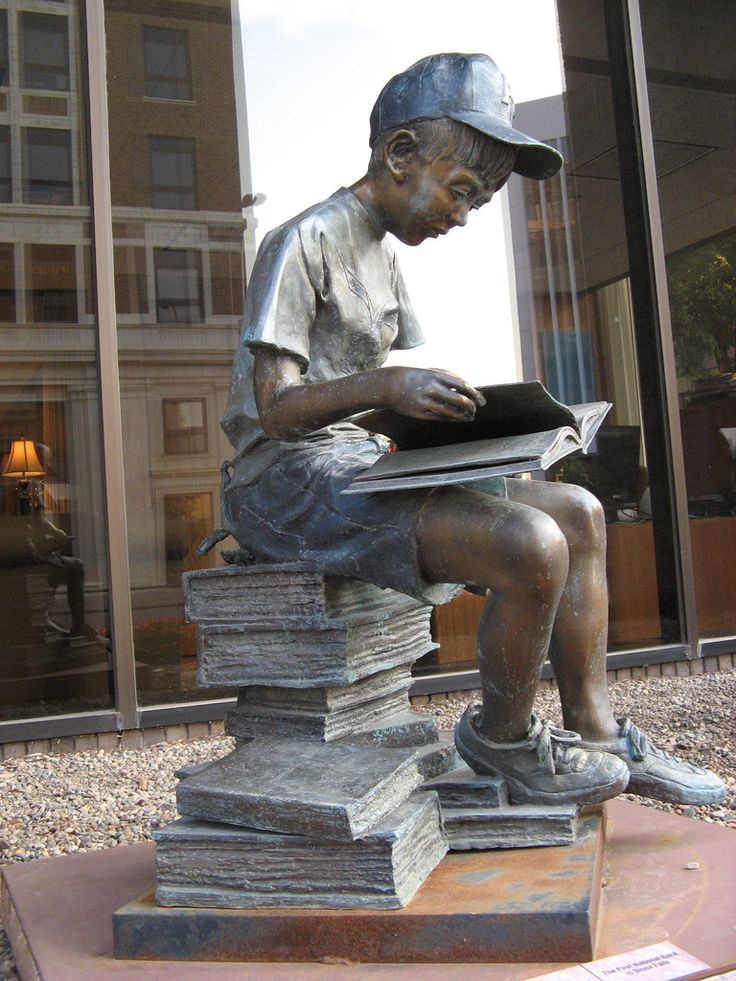 """A Book for Everyone"" on the Sculpture Walk in Sioux Falls, SD - photo by ali eminov, via  Flickr"