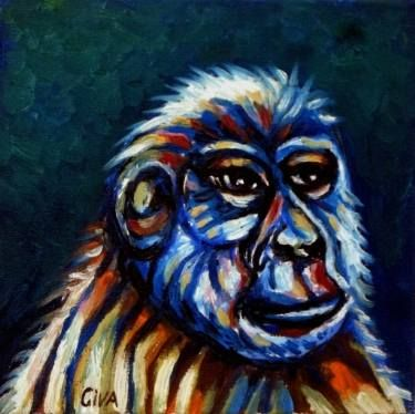 "Saatchi Art Artist Dan Civa; Painting, ""Chimpanzee portrait (chimp 8)"" #art"
