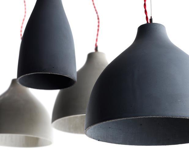 Concrete Lamps by Benjamin Hubert via Iza Gortych