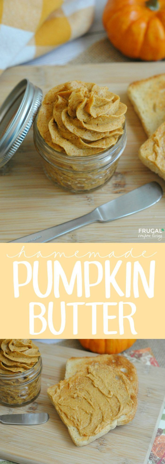 Delicious Homemade Pumpkin Butter Recipe with 5 simple pantry ingredients. This recipe is perfect on warm bread or muffins!  #pumpkinbutter #butterrecipe #pumpkinrecipes #recipes