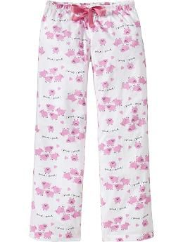 Gah, I <3 pajama pants. But, maybe, this isn't a pair a big girl should be wearing. I still would though. ;)
