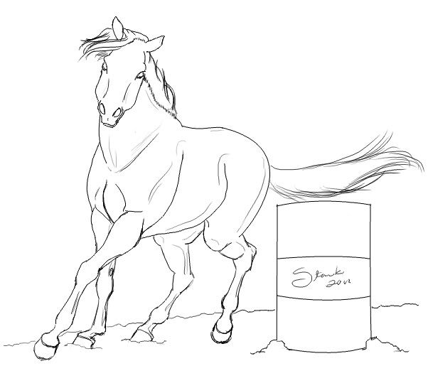 Barrel Racing Horse Coloring Pages Horse coloring pages