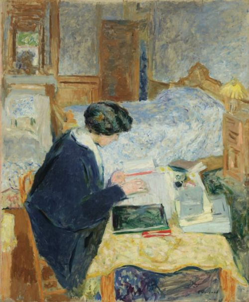 """Born on this day in 1868, Edouard Vuillard was a member of a Parisian group of avant-garde artists known as the Nabis, which translates to """"prophets"""" in Hebrew. Recognized for employing simplified form and pure colors, Vuillard created decorative, intimate pictures that range from portraits of the 19th century elite to scenes of urbane domesticity. The Jewish Museum honored his contribution to modern art in the exhibition, Edouard Vuillard: A Painter and His Muses, 1890-1940."""